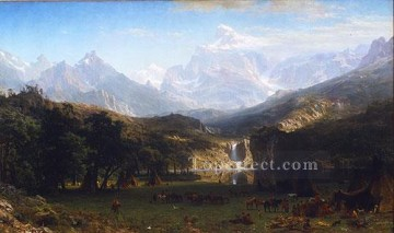 mountains canvas - The Rocky Mountains Landers Peak Albert Bierstadt