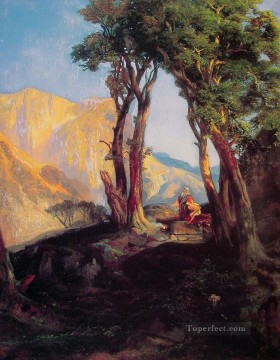 The Sacrifice of Isaac landscape Thomas Moran Oil Paintings