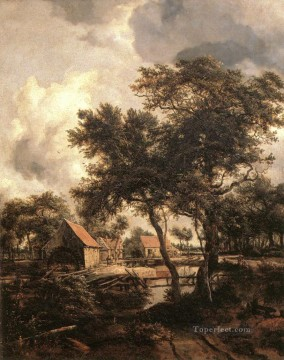 The Water Mill 1660 landscape Meindert Hobbema Oil Paintings
