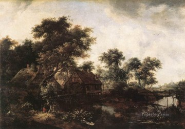 The Water Mill landscape Meindert Hobbema Oil Paintings