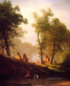 Plain Scenes Painting - The Wolf River Albert Bierstadt