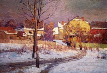 Tinker Place Impressionist Indiana landscapes Theodore Clement Steele Oil Paintings