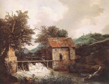 Two Watermills And An Open Sluice Near Singraven landscape Jacob Isaakszoon van Ruisdael Oil Paintings
