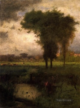 Woodland Scene landscape Tonalist George Inness Oil Paintings