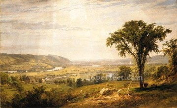 Plain Scenes Painting - Wyoming Valley Pennsylvania landscape Jasper Francis Cropsey