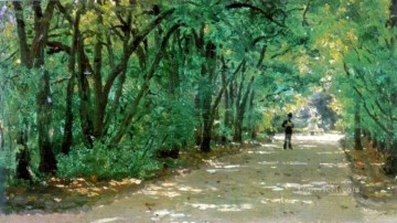 alley in the park kachanovka 1880 Ilya Repin scenery Oil Paintings