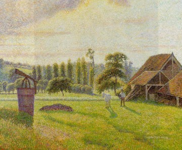 brickworks at eragny 1888 Camille Pissarro scenery Oil Paintings