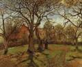 chestnut trees louveciennes spring 1870 Camille Pissarro scenery