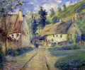 cottages at auvers near pontoise 1879 Camille Pissarro scenery