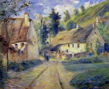cottages at auvers near pontoise 1879 Camille Pissarro scenery Oil Paintings