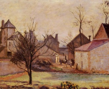farmyard in pontoise 1874 Camille Pissarro scenery Oil Paintings