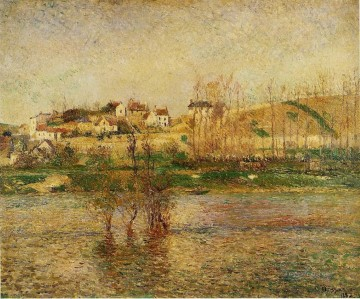 flood in pontoise 1882 Camille Pissarro scenery Oil Paintings