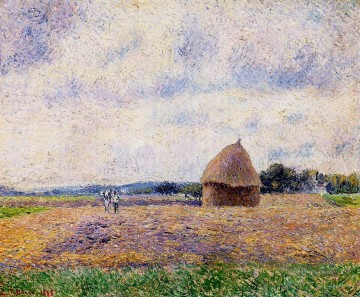 haystack eragny 1885 Camille Pissarro scenery Oil Paintings