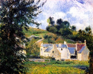 houses of l hermitage pontoise 1879 Camille Pissarro scenery Oil Paintings