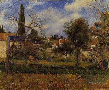 kitchen gardens pontoise 1881 Camille Pissarro scenery Oil Paintings