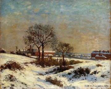 landscape under snow upper norwood 1871 Camille Pissarro Oil Paintings