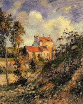 les mathurins pontoise 1877 Camille Pissarro scenery Oil Paintings