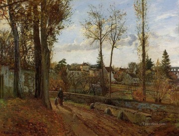 louveciennes 1871 Camille Pissarro scenery Oil Paintings