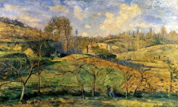 march sun pontoise 1875 Camille Pissarro scenery Oil Paintings