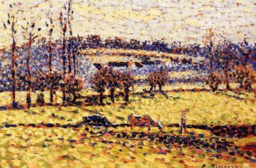 Meadow Art - meadow at bazincourt Camille Pissarro scenery