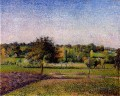 meadows at eragny 1886 Camille Pissarro scenery