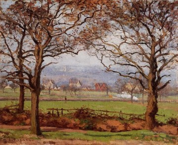 near sydenham hill looking towards lower norwood 1871 Camille Pissarro scenery Oil Paintings