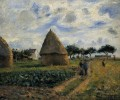 peasants and hay stacks 1878 Camille Pissarro scenery