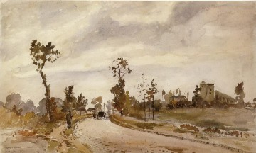 road to saint germain louveciennes 1871 Camille Pissarro scenery Oil Paintings
