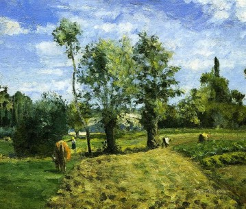 1874 Works - spring morning pontoise 1874 Camille Pissarro scenery