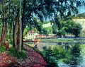 summer fishing Camille Pissarro scenery
