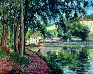 summer fishing Camille Pissarro scenery Oil Paintings