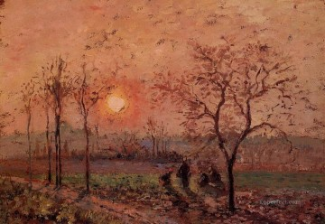 Sunset Art - sunset 1872 Camille Pissarro scenery