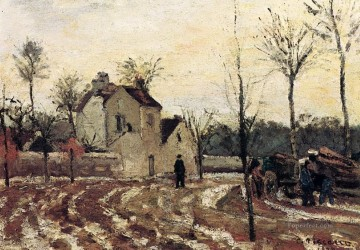thaw pontoise 1872 Camille Pissarro scenery Oil Paintings