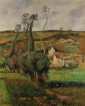 Bag Painting - the cabage place at pontoise 1882 Camille Pissarro scenery