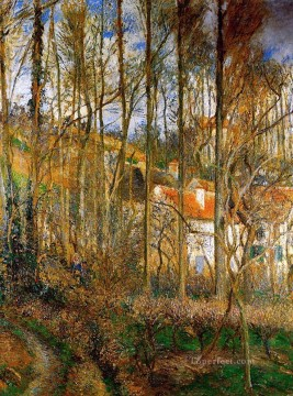 the cote des boeurs at l hermitage near pontoise 1877 Camille Pissarro scenery Oil Paintings