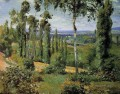 the countryside in the vicinity of conflans saint honorine 1874 Camille Pissarro scenery