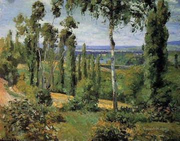 1874 Works - the countryside in the vicinity of conflans saint honorine 1874 Camille Pissarro scenery
