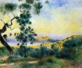 view of antibes Pierre Auguste Renoir scenery