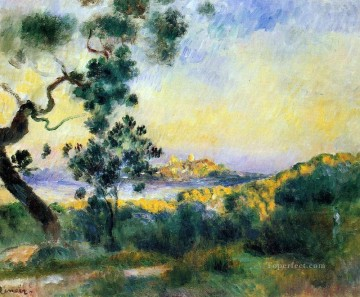 Pierre Works - view of antibes Pierre Auguste Renoir scenery
