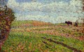 working at eragny Camille Pissarro scenery