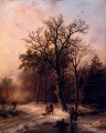Forest In Winter Dutch landscape Barend Cornelis Koekkoek