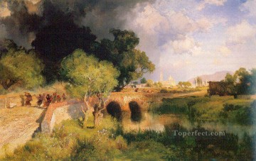 storm Works - Gathering Storm near Maravatio Mexico landscape Thomas Moran