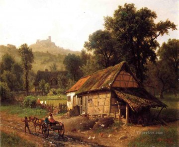 In the Foothills Albert Bierstadt Oil Paintings