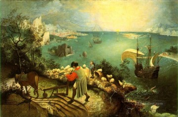 pieter bruegel Painting - Landscape With The Fall Of Icarus Flemish Renaissance peasant Pieter Bruegel the Elder