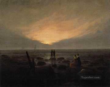 by Works - Moonrise By The Sea Romantic landscape Caspar David Friedrich