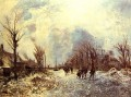 Skaters in Holland impressionism Johan Barthold Jongkind scenery