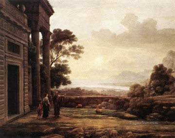 Lorrain Art Painting - The Expulsion of Hagar landscape Claude Lorrain