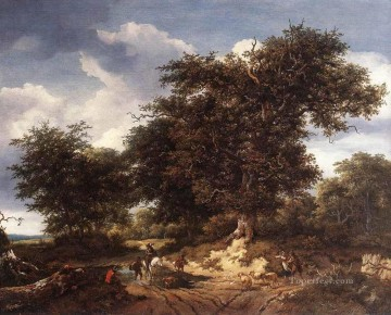 Great Art - The Great Oak landscape Jacob Isaakszoon van Ruisdael