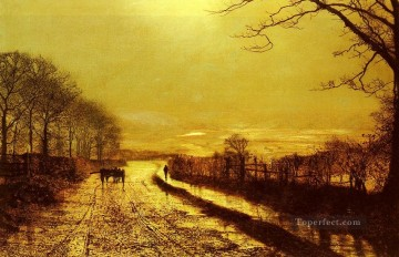 Wharfedale city scenes John Atkinson Grimshaw Oil Paintings