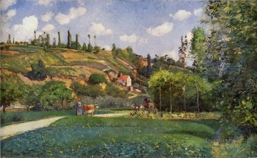 a cowherd on the route de chou pontoise 1874 Camille Pissarro scenery Oil Paintings